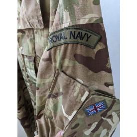 Китель армии Великобритании в камуфляже MTP 180/120 с нашивками Royal Navy