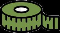 Иконка сантиметровая лента