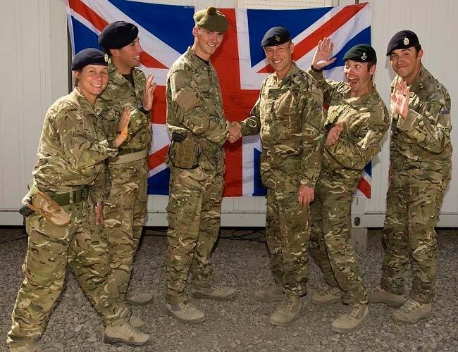 Солдаты британской армии