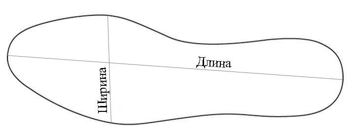 Стелька длина ширина картинка